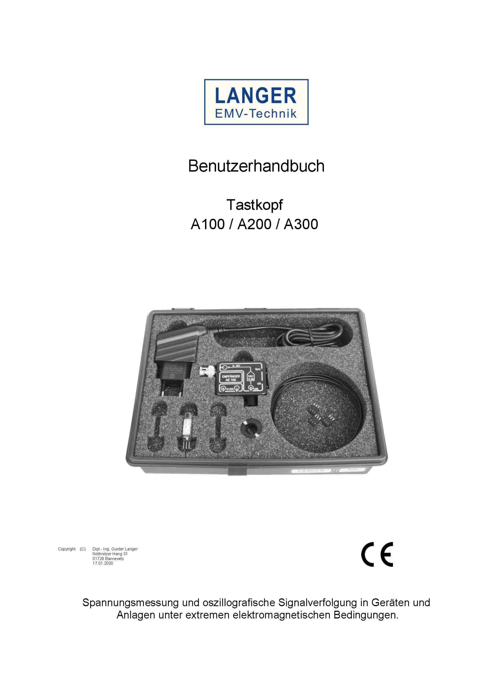 Langer EMV - A100-2 set, Tastkopf 2-kanalig, 25 kHz
