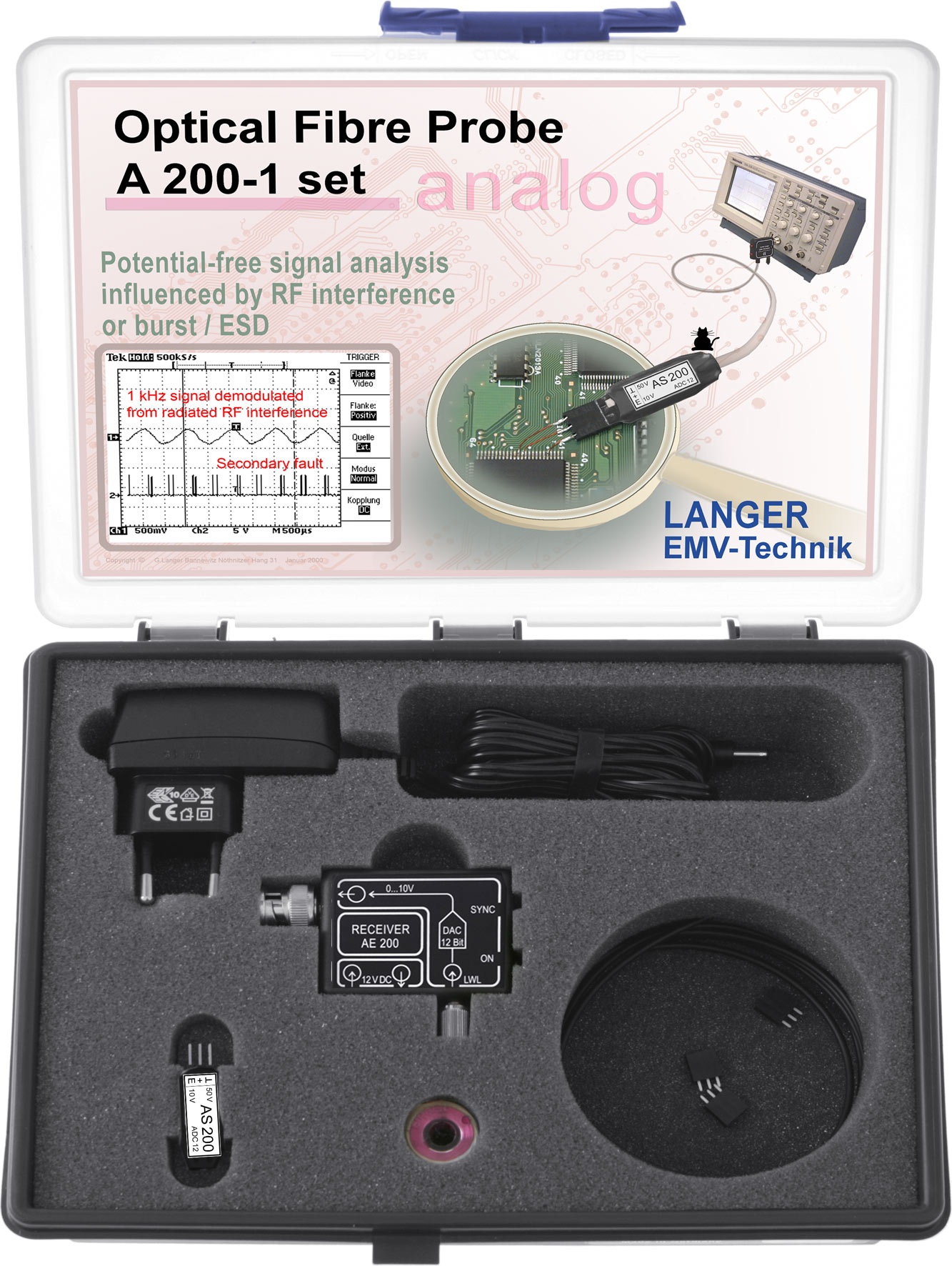 Langer Emv A200 1 Set Optical Fibre Probe Channel 500 Khz Figure 2 Rf 4 Channels Receiver Circuit