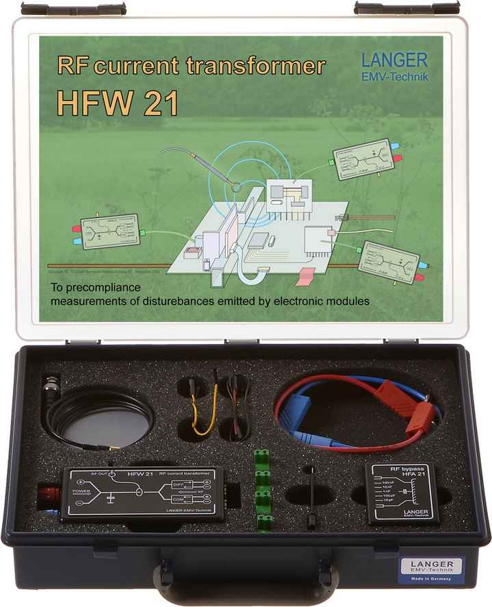 HFW 21 set, RF Current Transformer 100 kHz up to 1 GHz