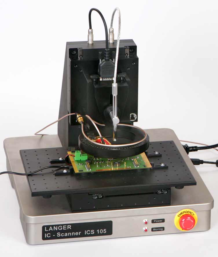 Device Under Test : Langer emv ics set ic scanner axis positioning system