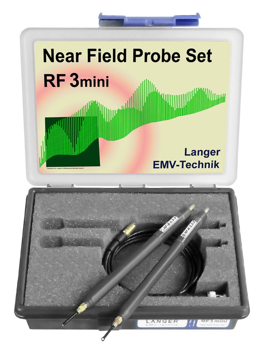 RF3 mini set, Near-Field Probes 30 MHz up to 3 GHz