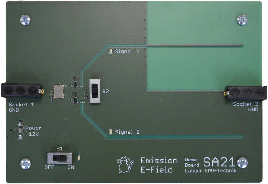 SA 21, Demo Board Emission E-field